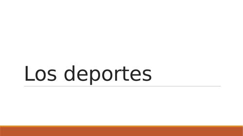 Spanish GCSE Sport