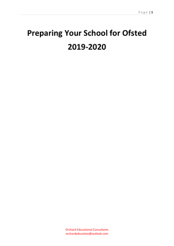 Ofsted: Preparing for Ofsted 2019-2020