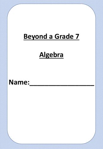 Beyond A Grade 7 Maths