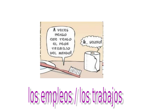 Los empleos / los trabajos / Jobs for GCSE Spanish & practice of translating, speaking, reading.