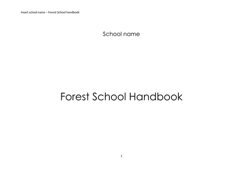 Forest School handbook
