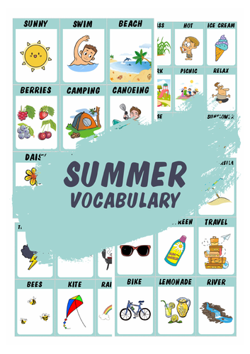 Summer vocabulary