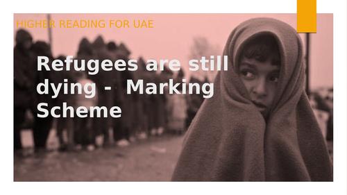 Higher RUAE (Close Reading) - Refugees