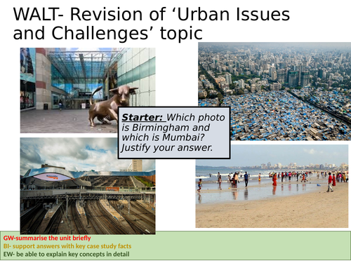 Urban Issues and Challenges Revision