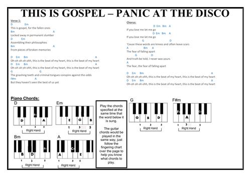This is Gospel Performance Worksheet