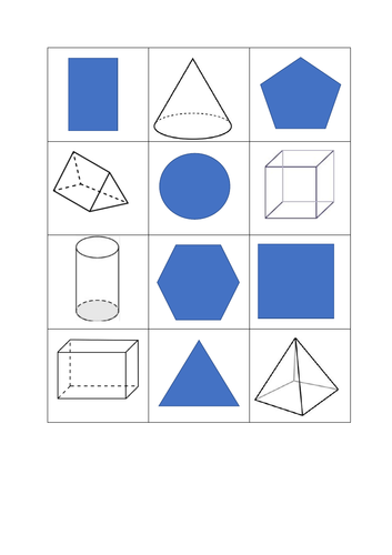 Shapes pairs game
