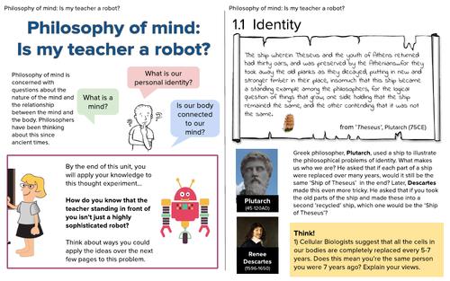 KS3 Philosophy of Mind Textbook-style Anthology