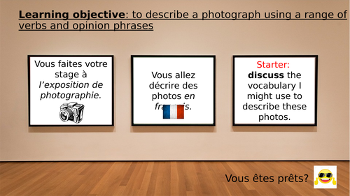 Describe a photo - GCSE speaking practise