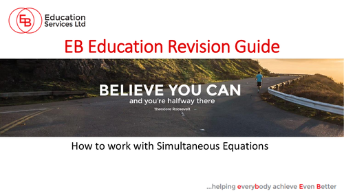 How to work with Simultaneous Equations