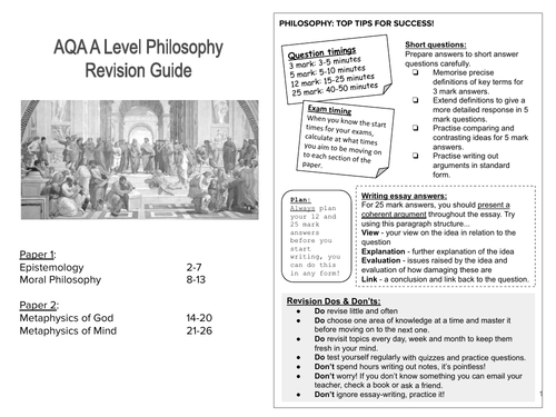 AQA A Level Philosophy Revision Workbook