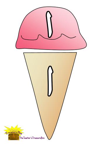 Arabic Whole & Broken Letters on Ice-creams