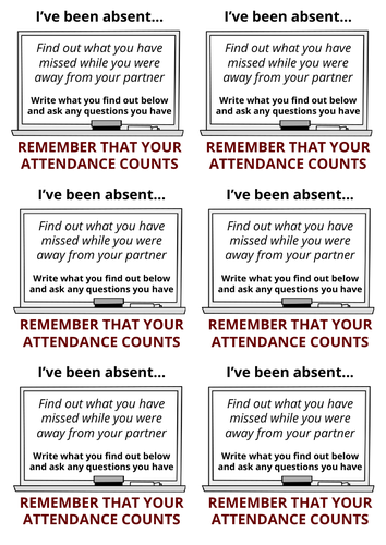 Absent stickers