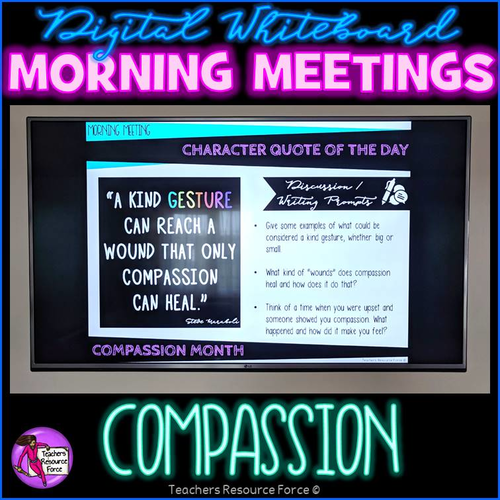 COMPASSION Character Education Tutor Time Digital Whiteboard PowerPoint