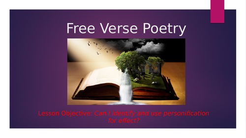 Using personification in poetry