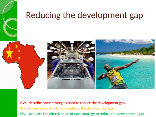Reducing the development gap