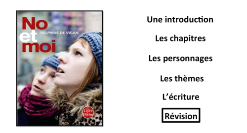 No et Moi- Book Study- Summary sheets- Revision- French A Level