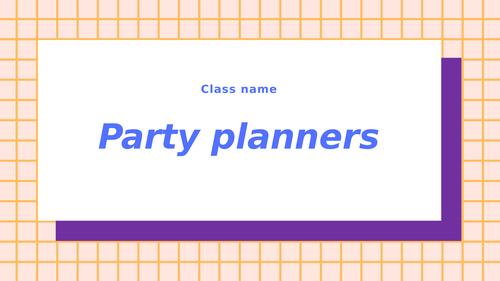 Party planning KS2