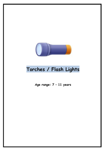Science/DT: Torches / Flash Lights UOW