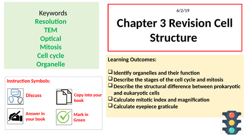 AQA A-level:  Cell Structure Chapter 3 Revision