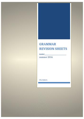 grammar definition sheets