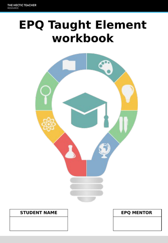 EPQ Taught Element sessions and workbook - OCR