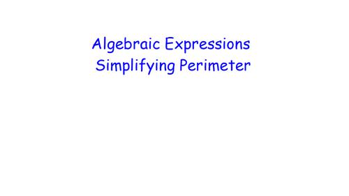Algebraic Expressions - Simplifying Perimeter - Retrieval Maths
