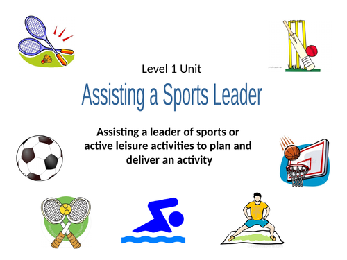 Assisting a Sports Leader Booklet