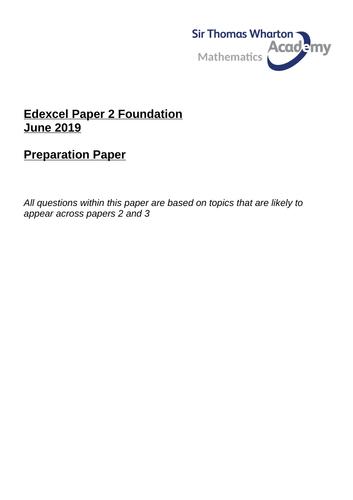 Edexcel GCSE Paper 2 Preparation Revision Paper F