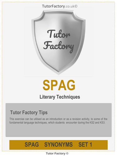 Literary Techniques - Introduction SPaG