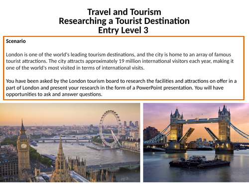 Travel and Tourism - Researching a tourist destination