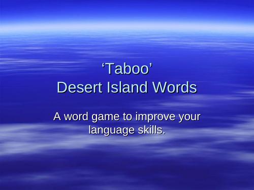 Taboo - Desert Island Words