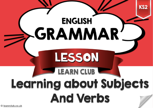 KS2 Subjects and Verbs