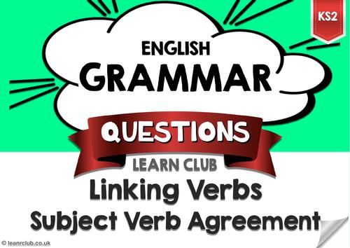 KS2 Linking Verbs - Subject Verb Agreemnt