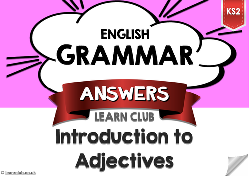 KS2 Introduction to Adjectives