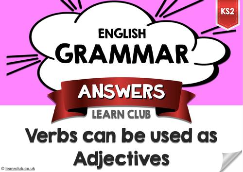 KS2 Verbs as Adjectives