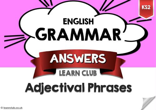 KS2 Adjectival Phrases