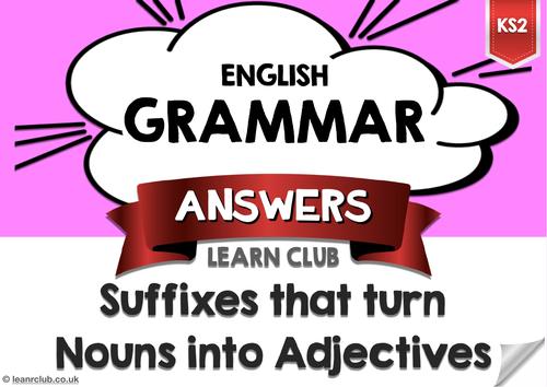 KS2 Suffixes 1