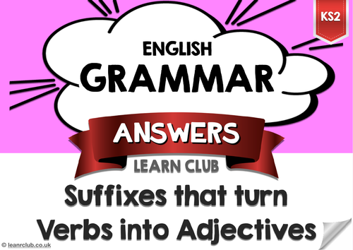KS2 Suffixes 2