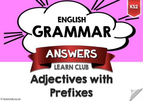 KS2 Adjectives with Prefixes