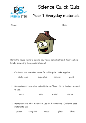 Primary Science Quick Quizzes Year 1