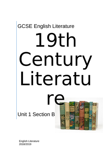 CCEA Unseen 19th Century Prose
