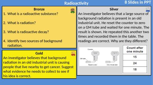 AQA Physics Atomic Radiation Differentiated