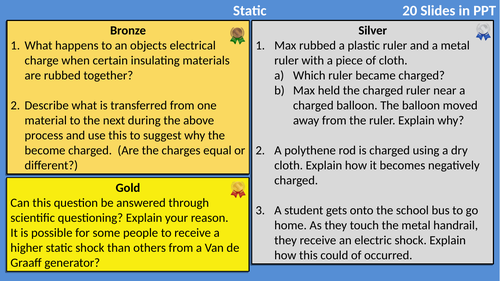 AQA Physics Electricity Differentiated
