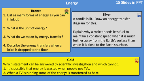 AQA Physics Energy Differentiated