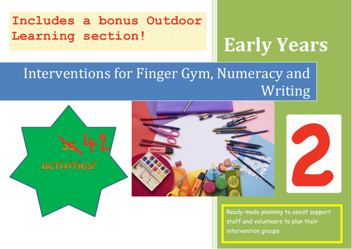 Intervention Pack 2: Targeted Support for Finger Gym, Numeracy and Writing