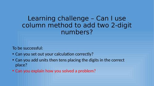 Maths Column Addition Secret Message Lesson (Christmas)