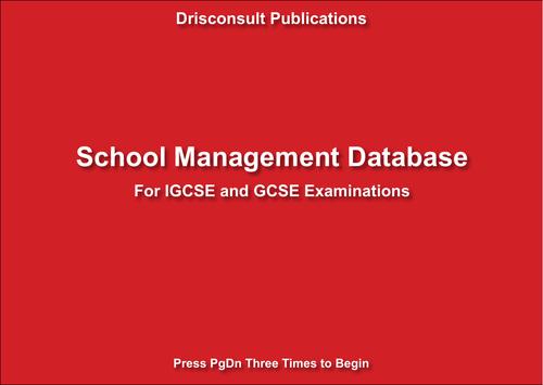 School Management Database