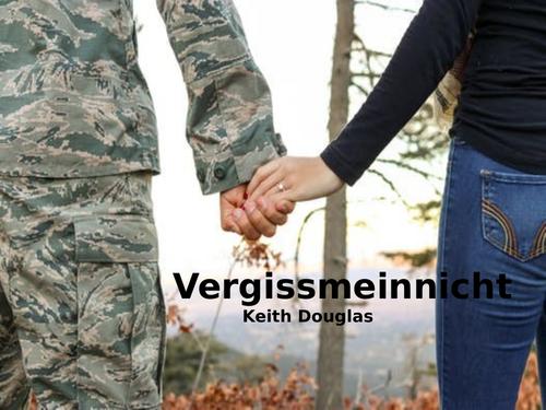 Vergissmeinnicht by Keith Douglas- Poetry Analysis (CCEA GCSE Conflict Poetry)