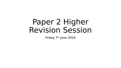 AQA Biology Paper 2 Revision PowerPoints