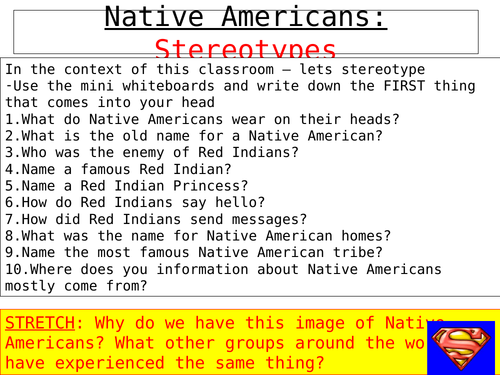 Lesson 10 - Native American minority rights USA